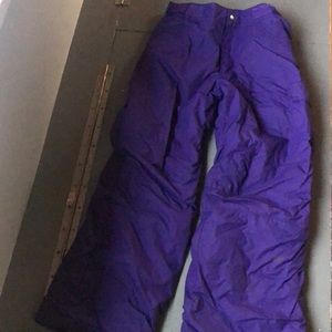 Columbia youth snow pants- purple